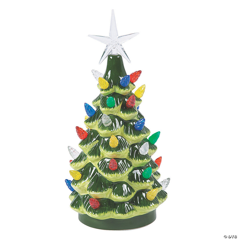Vintage Lighted Ceramic Christmas Tree
