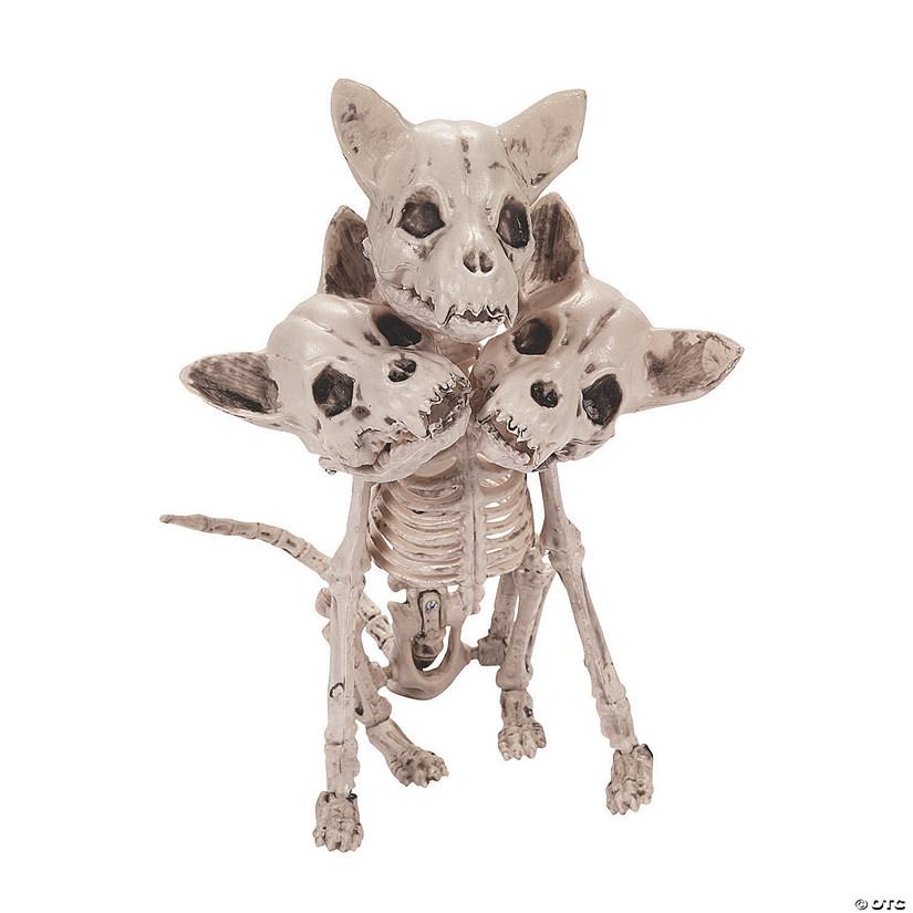Three Headed Dog Skeleton Halloween Decoration