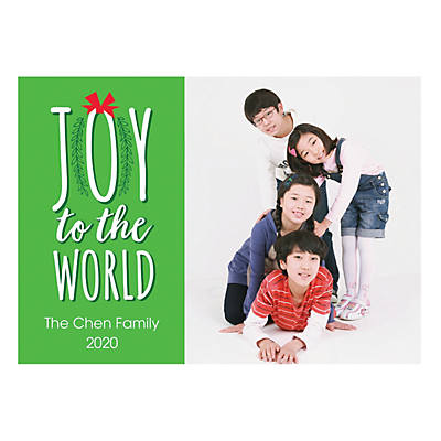 Custom Photo Joy To The World Christmas Cards Oriental Trading