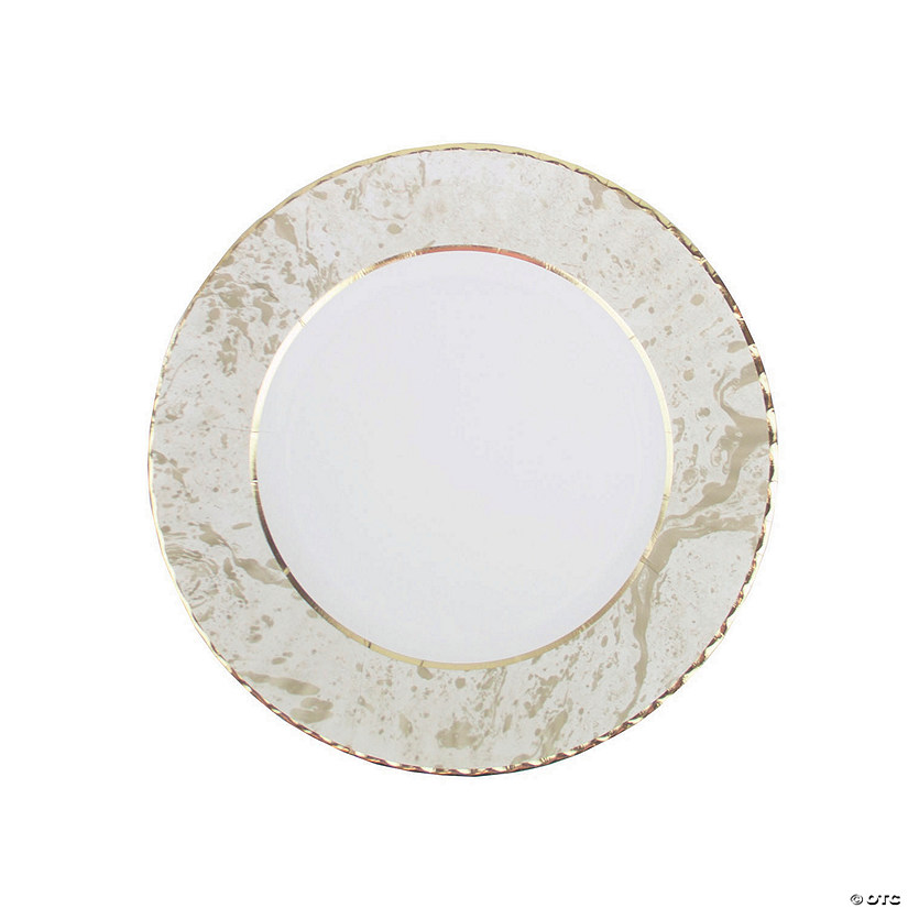Paper Plates PORCELAIN GOLD  Paper Plates party supplies wedding tableware 8 plates 9 inches Wedding plates