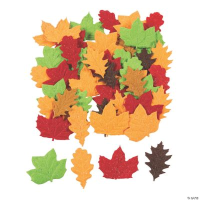 Fall Leaves Self-Adhesive Shapes