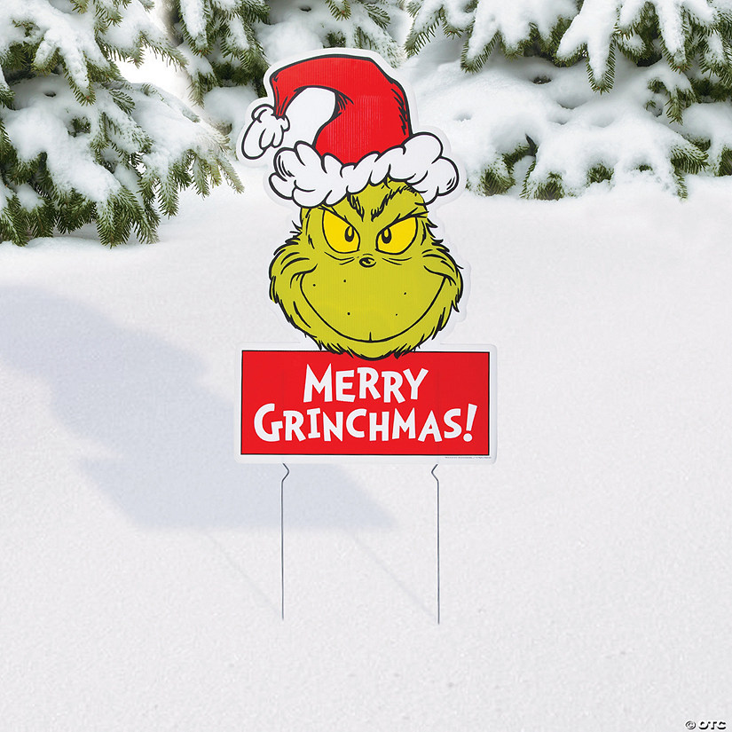 Dr Seuss The Grinch Yard Sign