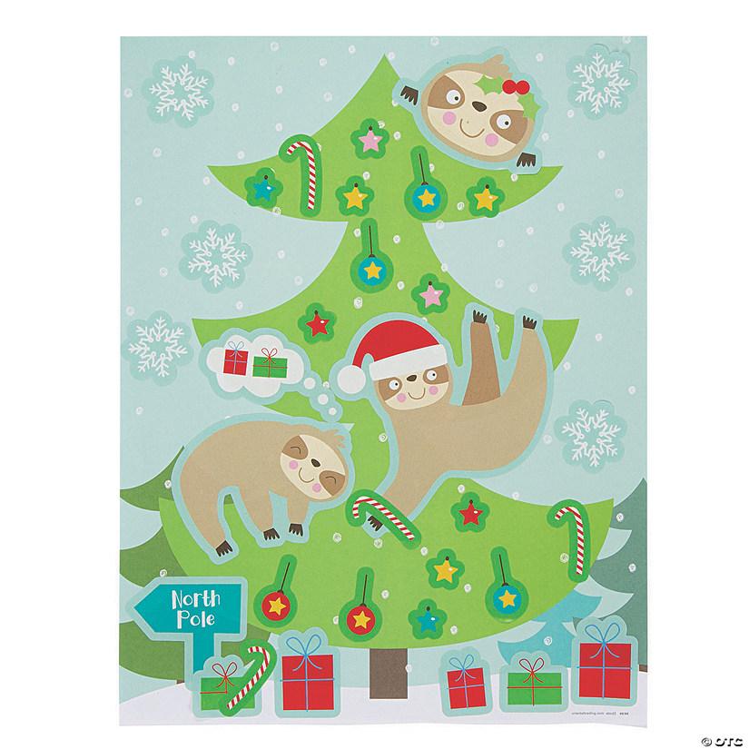 Christmas Sloth.Christmas Sloth Sticker Scenes