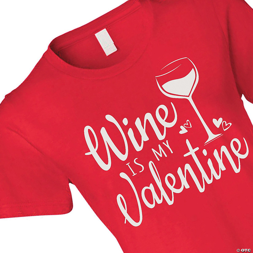f6a90a21ea35 Anvil<sup>®</sup> Lightweight Jersey Women's Short Sleeve Wine Is My  Valentine T-Shirt | Oriental Trading