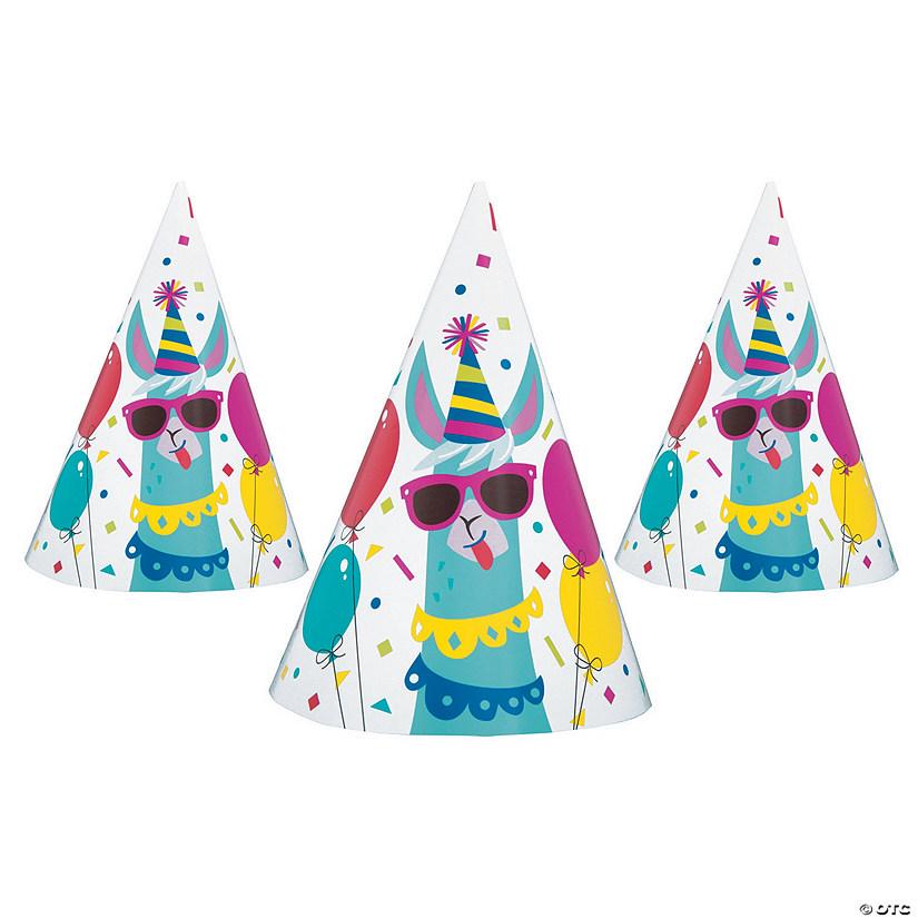 b6b83ee64deb4 Llama Birthday Cone Party Hats