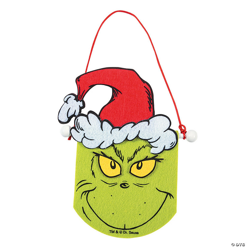 Christmas Grinch.Mini Dr Seuss The Grinch Christmas Banner Craft Kit
