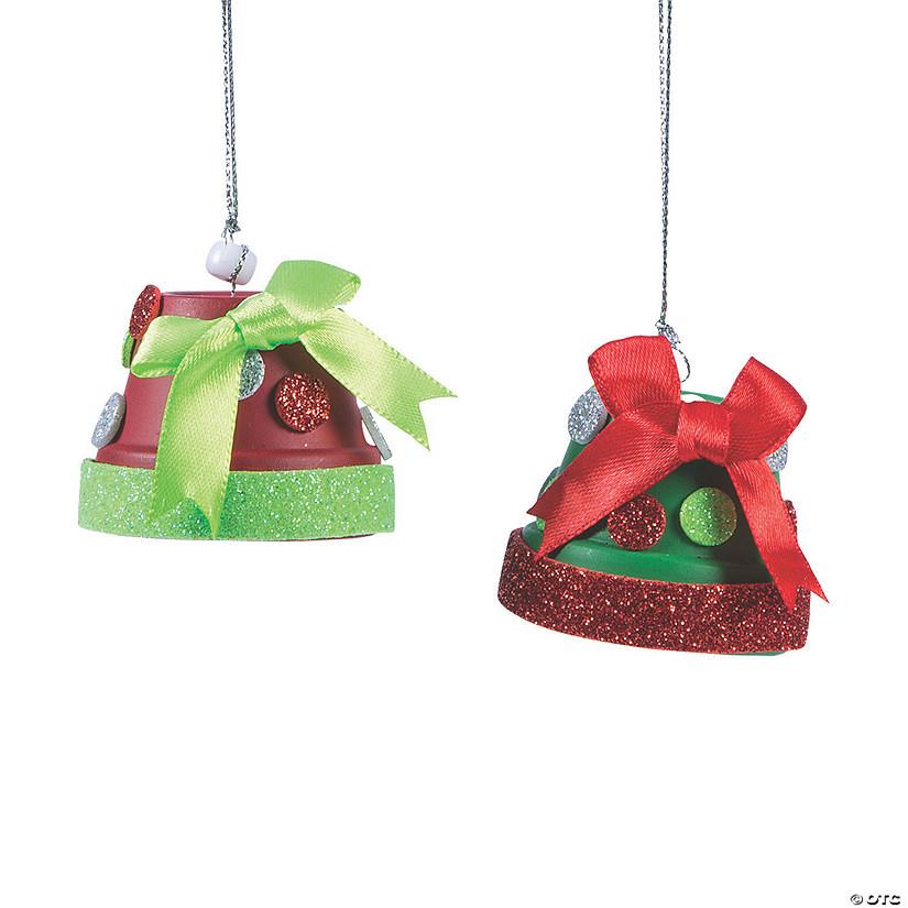 Christmas Flower Pots.Christmas Flower Pot Bell Ornament Craft Kit