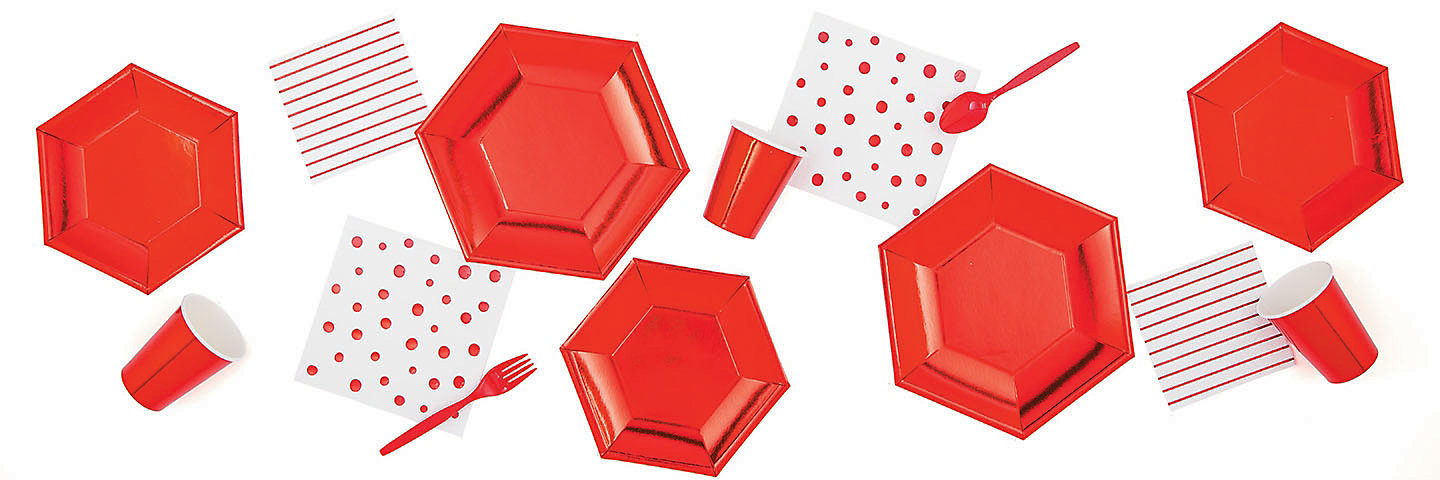 Red Metallic Party Supplies