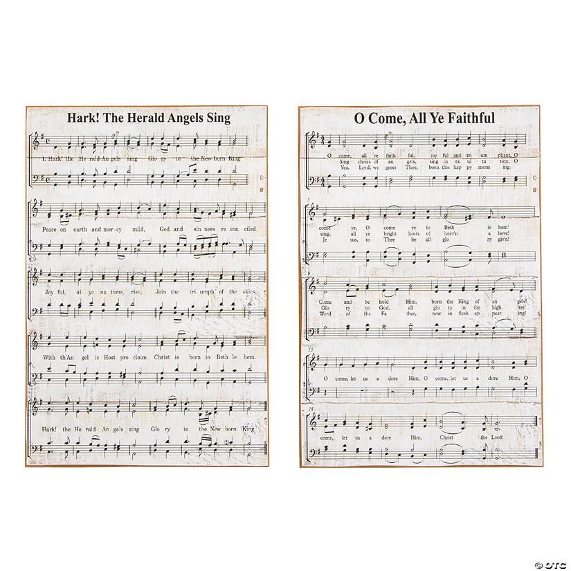 Christmas Hymns.Christmas Hymn Signs