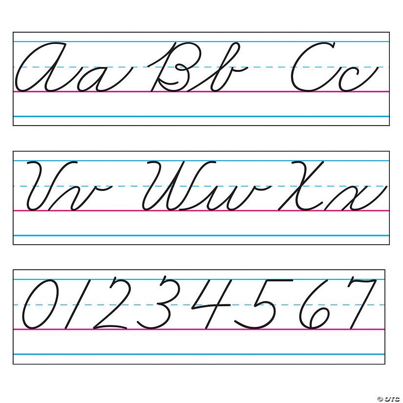 Zaner-Bloser Cursive Alphabet Bulletin Board Set