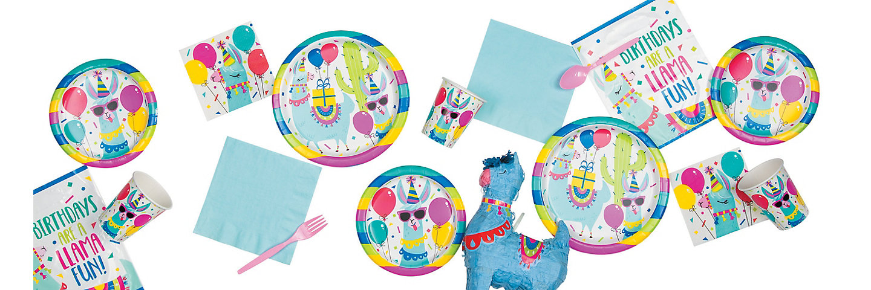 eb48f9f2d6a7b Llama Birthday Party Supplies | Oriental Trading