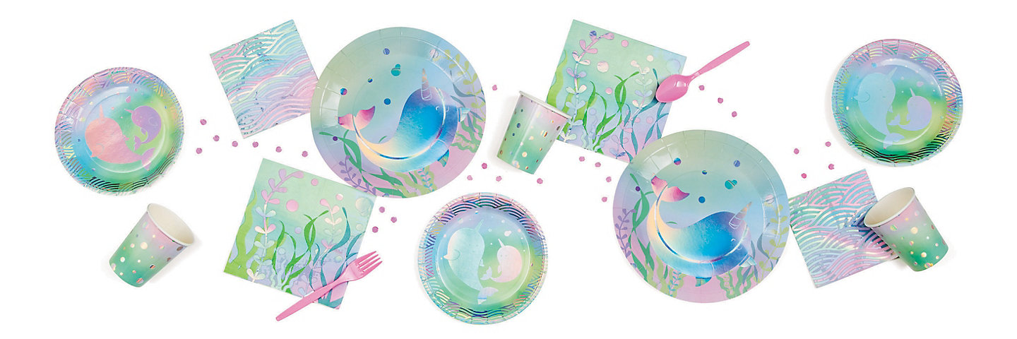 9900c9c7c1825 Iridescent Narwhal Party Supplies | Oriental Trading