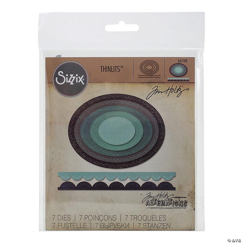 Sizzix Dies Tim Holtz-Stitched Ovals