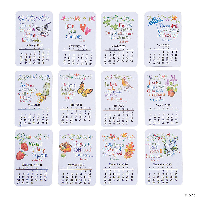 2020 Religious Monthly Calendar Magnets
