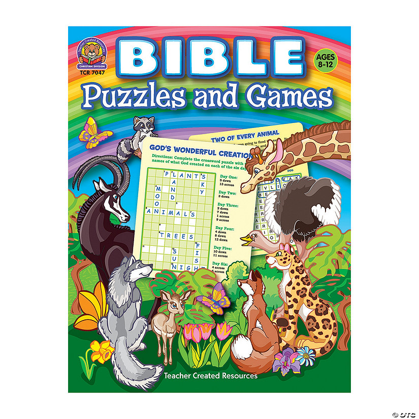 Bible Puzzles & Games Book