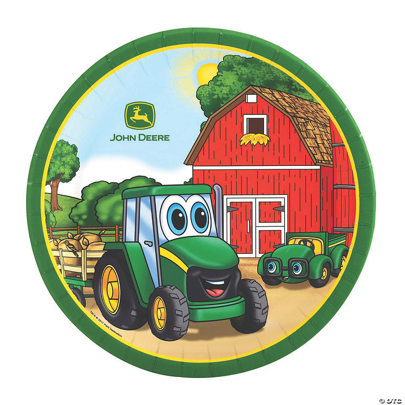 John Deere ™ Johnny Tractor Paper Dinner Plates - Discontinued