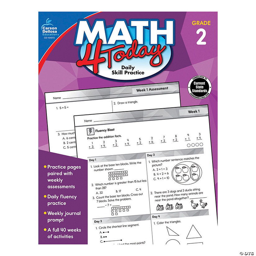 Math 4 Today Workbook - 2nd Grade, Qty 3