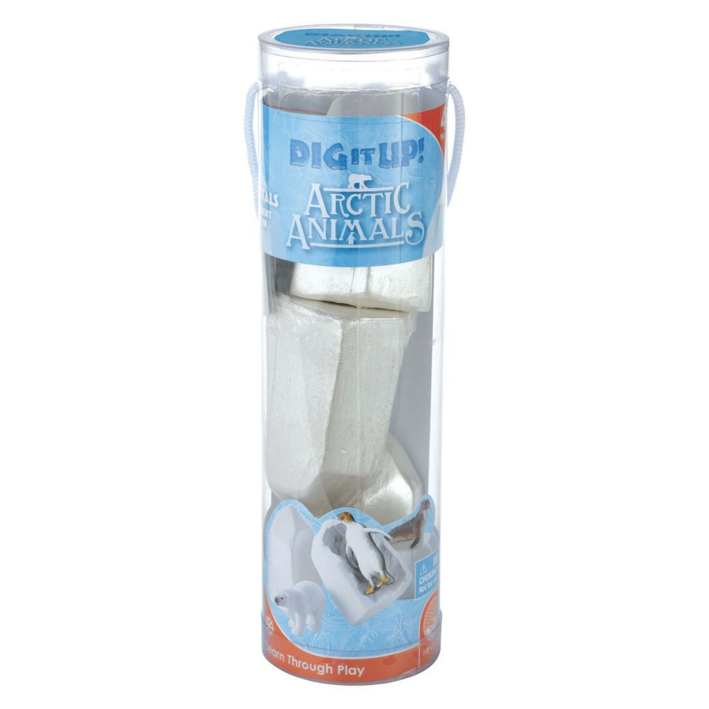 Dig It Up Arctic Animals Tube From MindWare