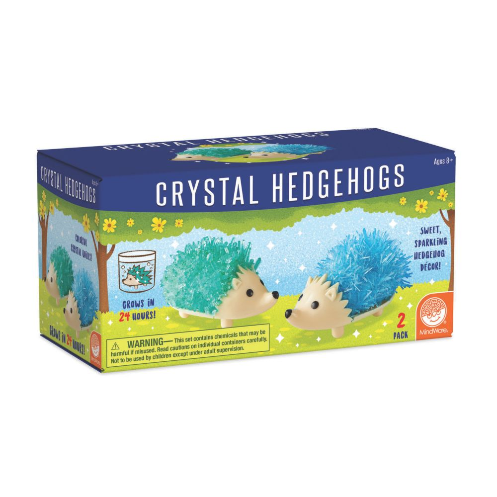 Crystal Hedgehog Cool Colors Set Of 2 Kit From MindWare