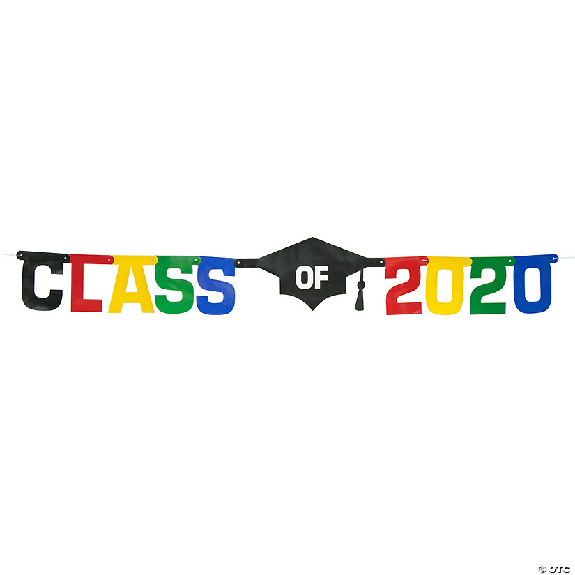 Oriental Trading Graduation 2020.Class Of 2020 Graduation Jointed Banner