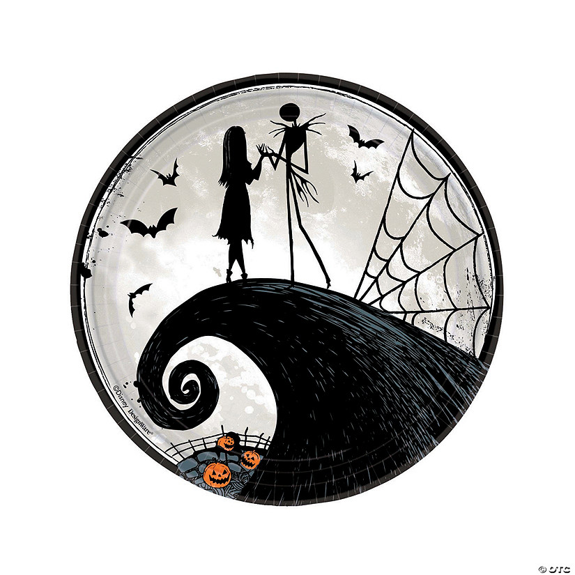 Christmas Paper Plates.Nightmare Before Christmas Paper Dinner Plates