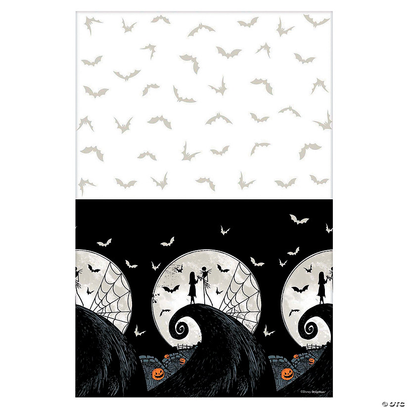 Nightmare Before Christmas Images Black And White.Nightmare Before Christmas Plastic Tablecloth