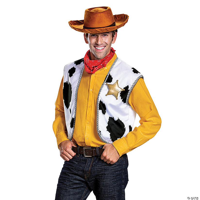 Toy Story 4 Halloween Costumes.Men S Deluxe Toy Story 4 Woody Costume Kit