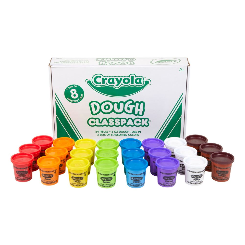 8-Color Crayola® Dough Tubs Classpack® - 24 Pc. From MindWare