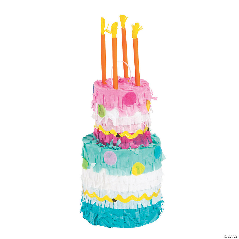 Groovy Mini Birthday Cake Pinatas Oriental Trading Funny Birthday Cards Online Alyptdamsfinfo