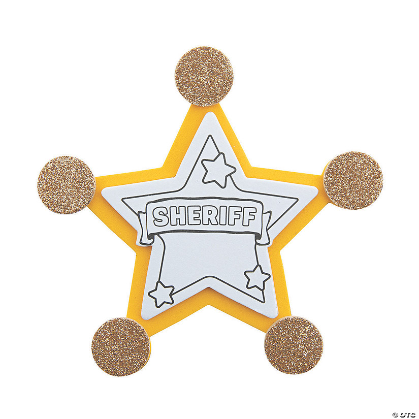 Sheriff Badge Pin Craft Kit | Oriental Trading