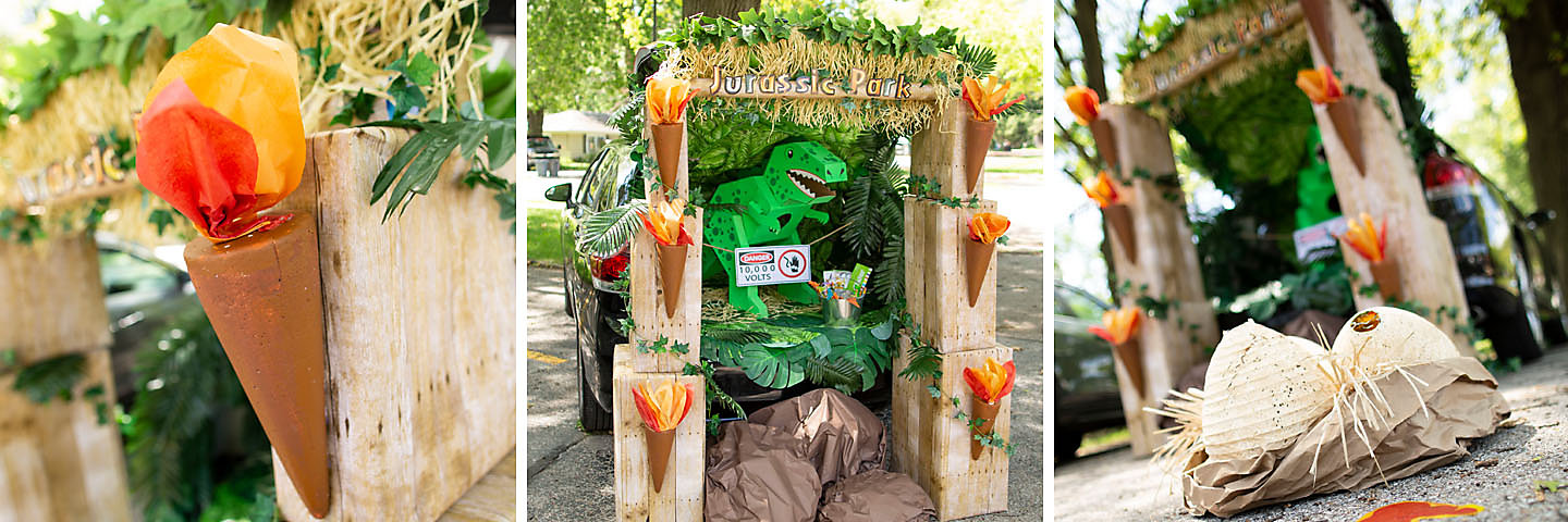 Jurassic Park™ Trunk-or-Treat Decorating Idea