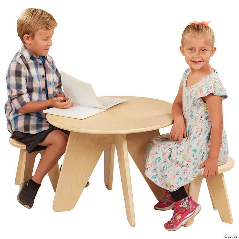 Strange Ecr4Kids Dart Table And Stool Kids Seating Set Wood Furniture Set For Kids Beatyapartments Chair Design Images Beatyapartmentscom