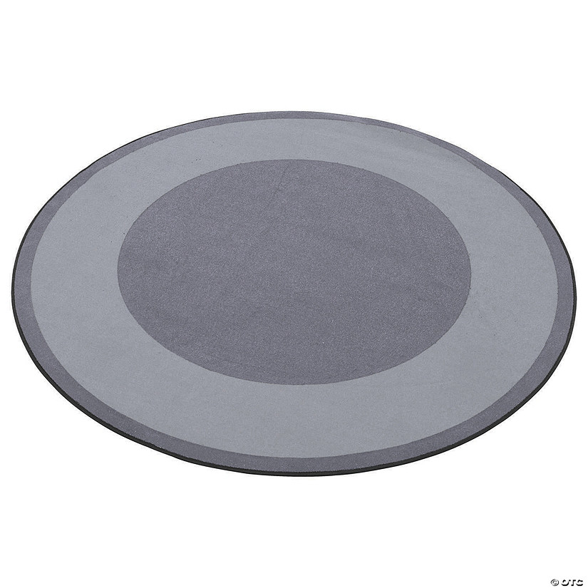 Ecr4kids Two Tone Circle Area Rug 6 Foot Round Grey