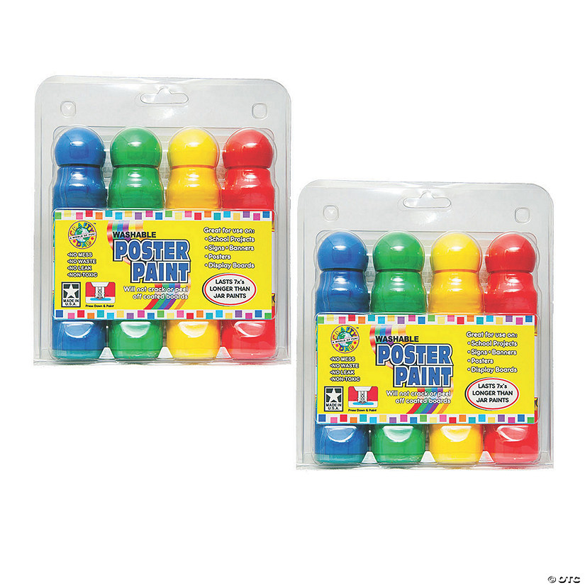 Crafty Dab Washable Poster Paint Markers Assorted Colors 8 Count