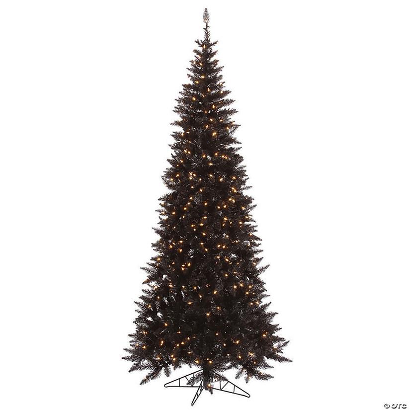 Black Christmas Tree.Vickerman 9 Black Fir Christmas Tree With Clear Lights