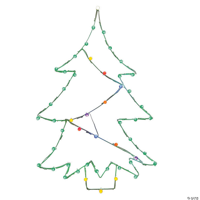 Wire Christmas Tree.Vickerman 48 Multi Colored Led Christmas Tree Wire Silhouette