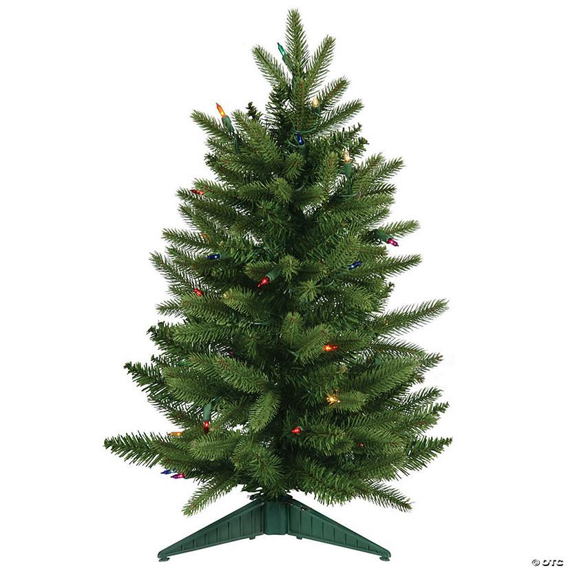 Frasier Fir Christmas Tree.Vickerman 24 Frasier Fir Christmas Tree With Multi Colored Lights