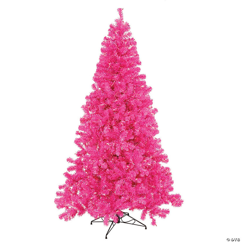 Christmas Tree With Lights.Vickerman 3 Hot Pink Christmas Tree With Pink Led Lights