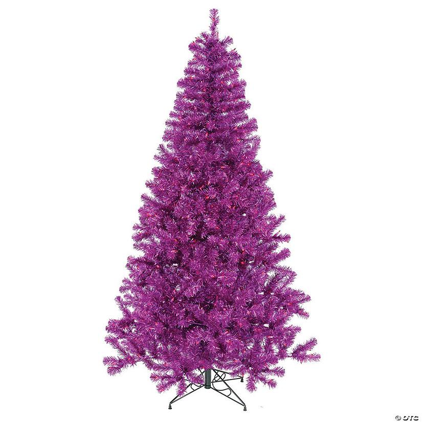 Christmas Tree With Lights.Vickerman 3 Purple Christmas Tree With Purple Led Lights