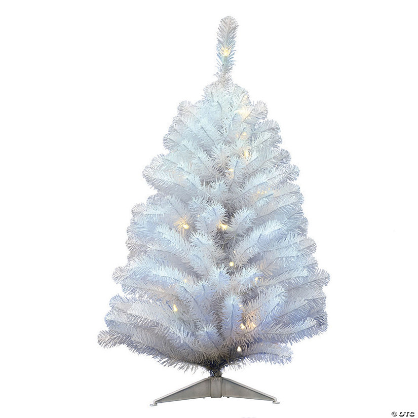 Artificial Christmas Tree.Vickerman 3 Crystal White Spruce Christmas Tree With Warm White Led Lights