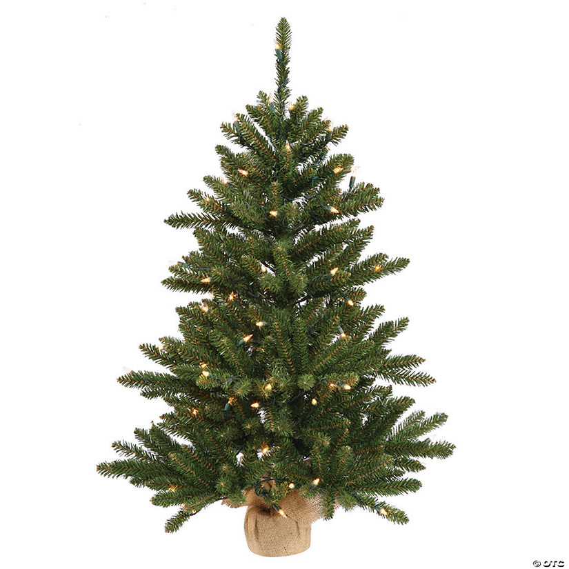 Artificial Christmas Tree With Lights.Vickerman 30 Anoka Pine Artificial Christmas Tree With 50 Warm White Led Lights