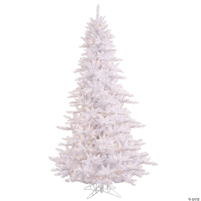 Christmas Tree.Vickerman 4 5 White Fir Christmas Tree With Led Lights