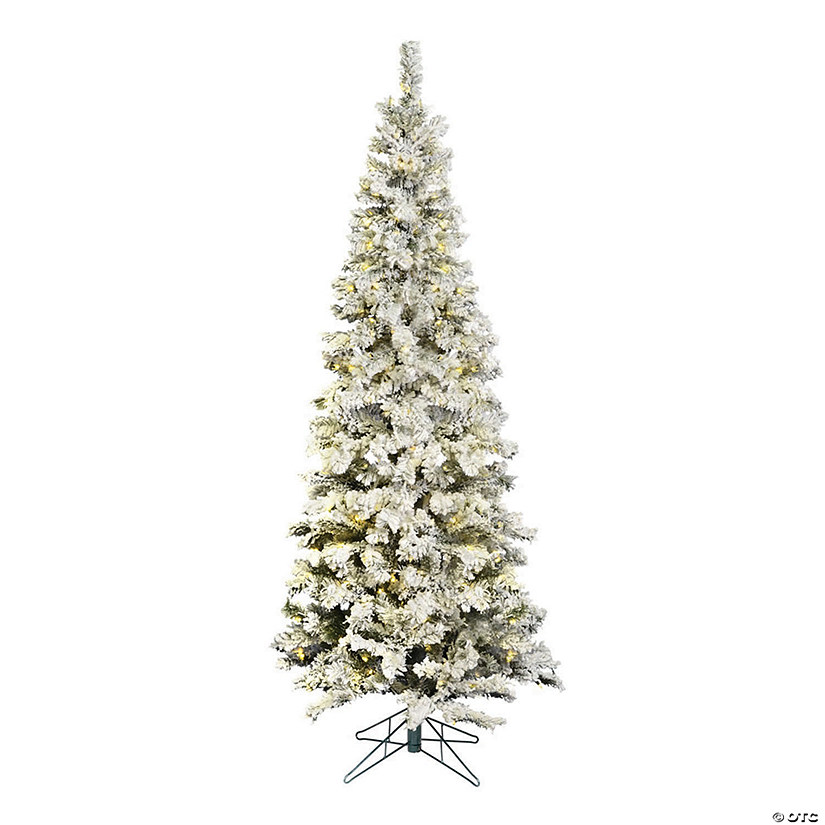 official photos 8eb46 7d1cf Vickerman 6.5' Flocked Pacific Christmas Tree with Warm White LED Lights