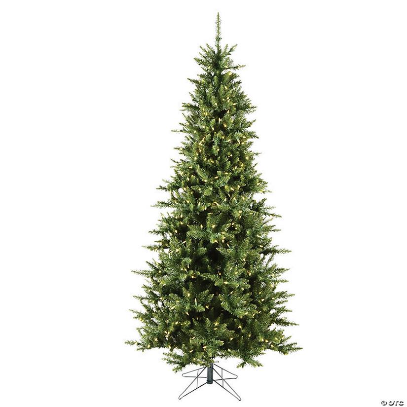 Slim Christmas Tree.Vickerman 6 5 Camdon Fir Slim Christmas Tree With Warm White Led Lights