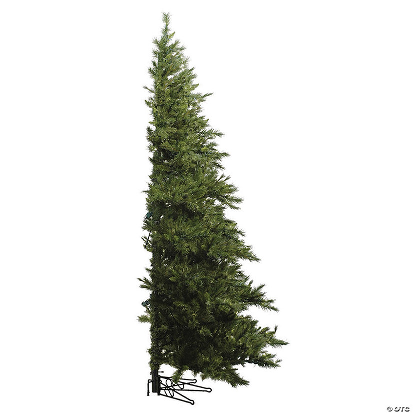 Half Christmas 2020 Vickerman 6.5' Westbrook Pine Half Christmas Tree with Clear