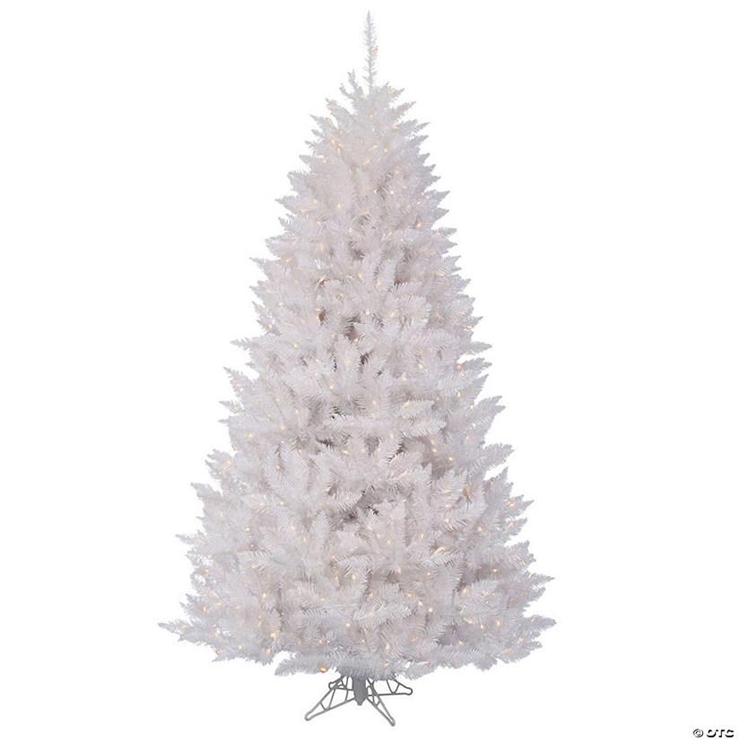 White Christmas Tree With Lights.Vickerman 7 5 Sparkle White Spruce Christmas Tree With Clear Lights