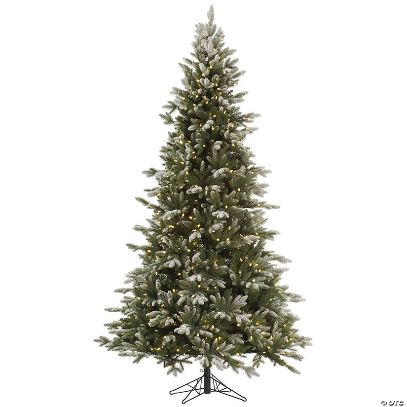 Balsam Christmas Trees.Vickerman 7 5 Frosted Balsam Fir Christmas Tree With Warm White Led Lights