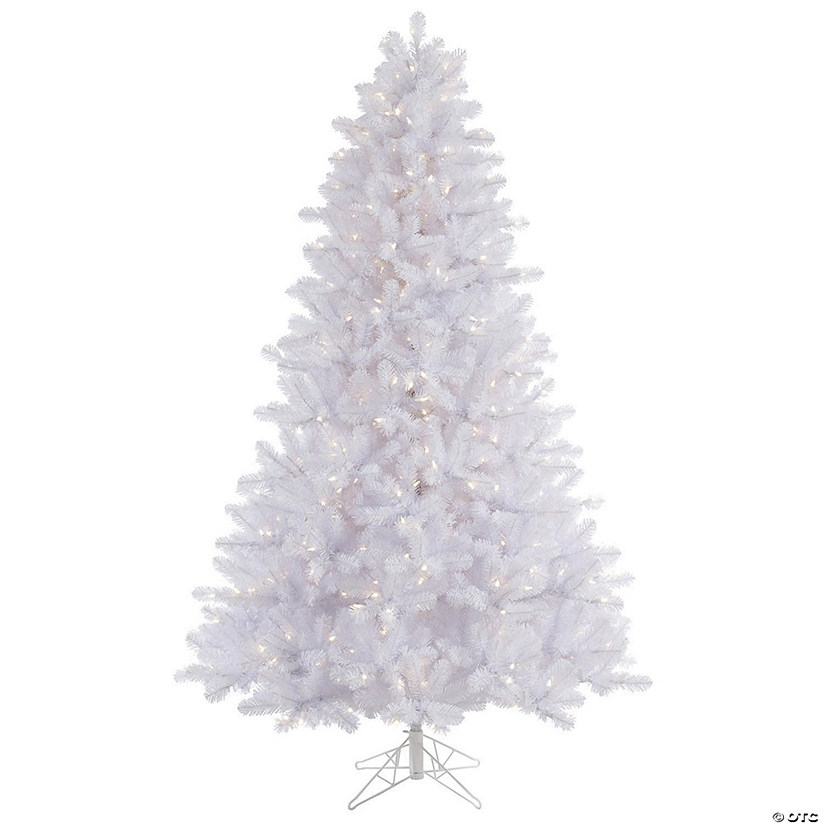 Vickerman 7 5 Crystal White Pine Christmas Tree With Warm White Led Lights