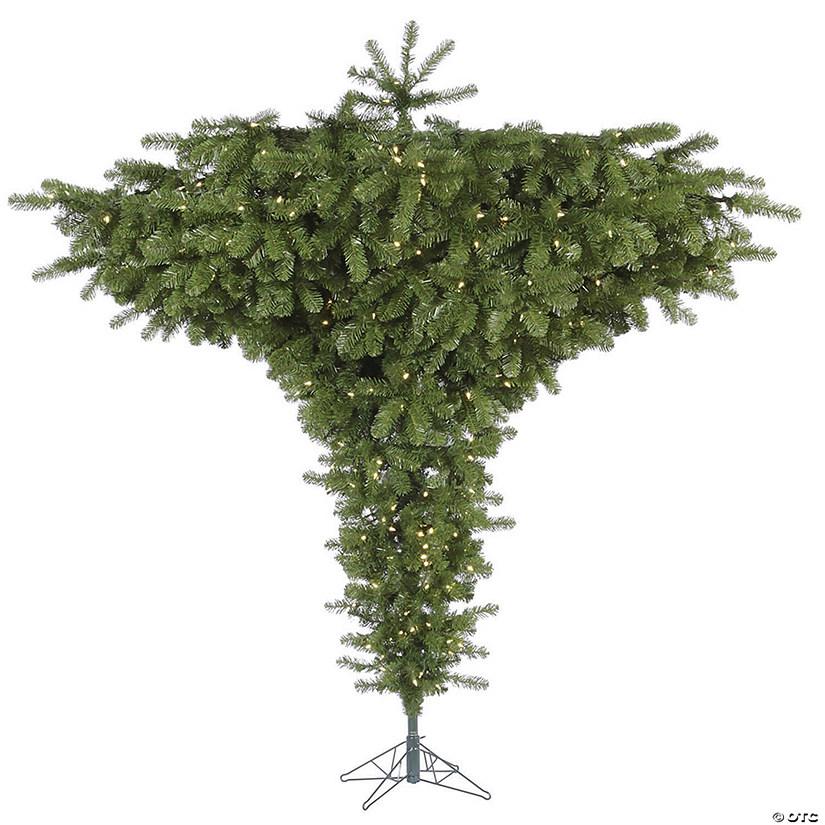 Why Upside Down Christmas Tree: Vickerman 7.5' Upside Down Christmas Tree With Warm White