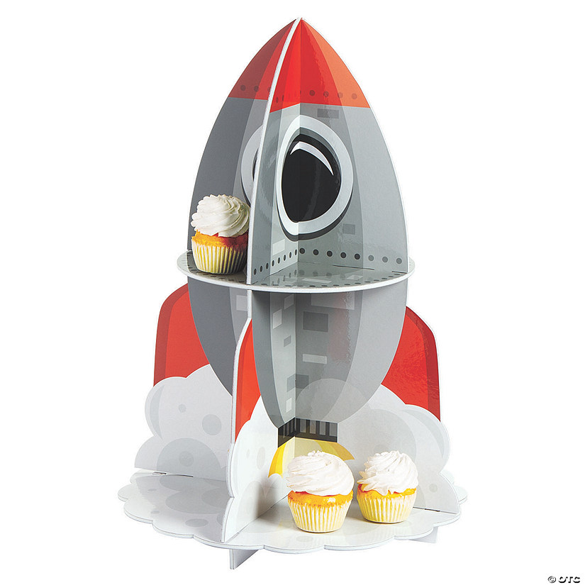 BLAST OFF Outer Space Party Rocket table TREAT CUPCAKE STAND